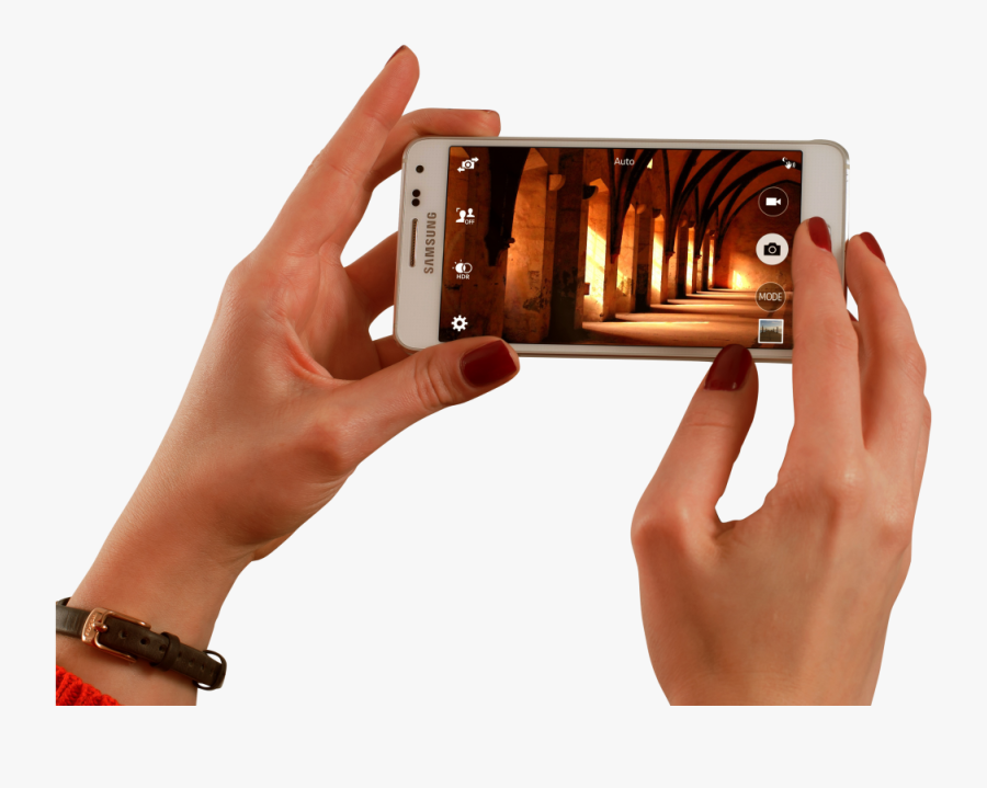 Taking Picture From Smartphone Png Image - Filming On A Smartphone, Transparent Clipart
