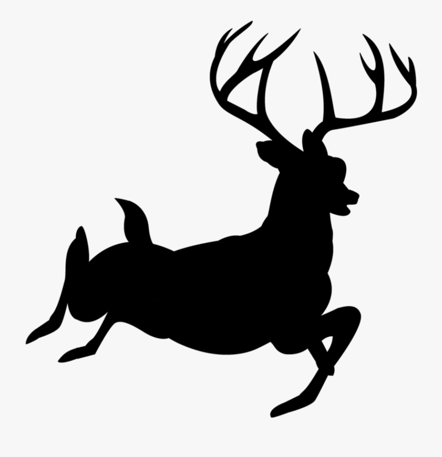 Buck Clipart Forest Deer - Deer Silhouette White No Background, Transparent Clipart