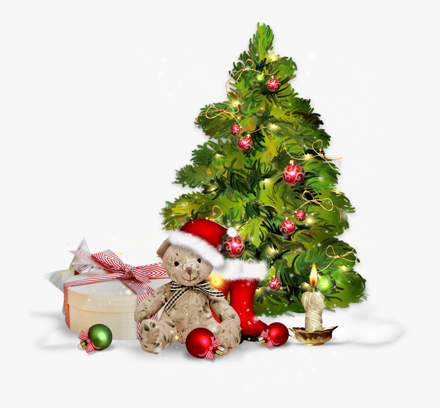 Transparent Christmas Tree With Presents Clipart - Christmas Tree Presentspng, Transparent Clipart