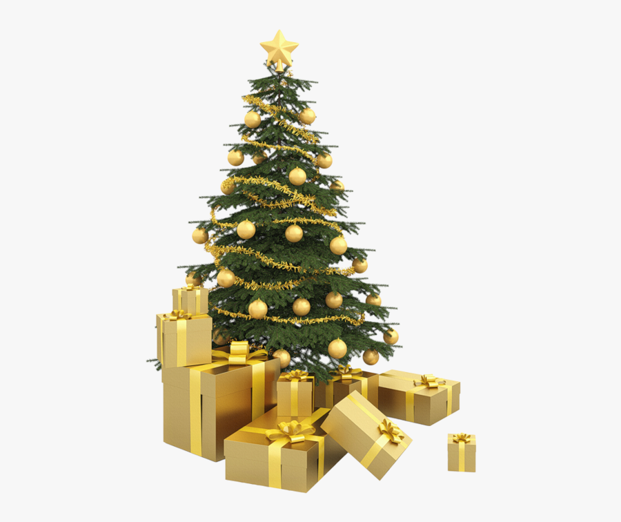 Transparent Arbre Clipart - Transparent Background Gold Christmas Tree Png, Transparent Clipart