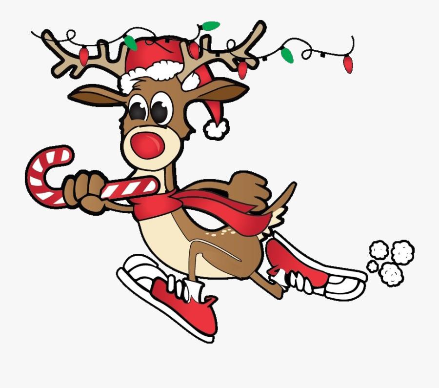 Rudolph Running Png Hd - Run Run Rudolph, Transparent Clipart