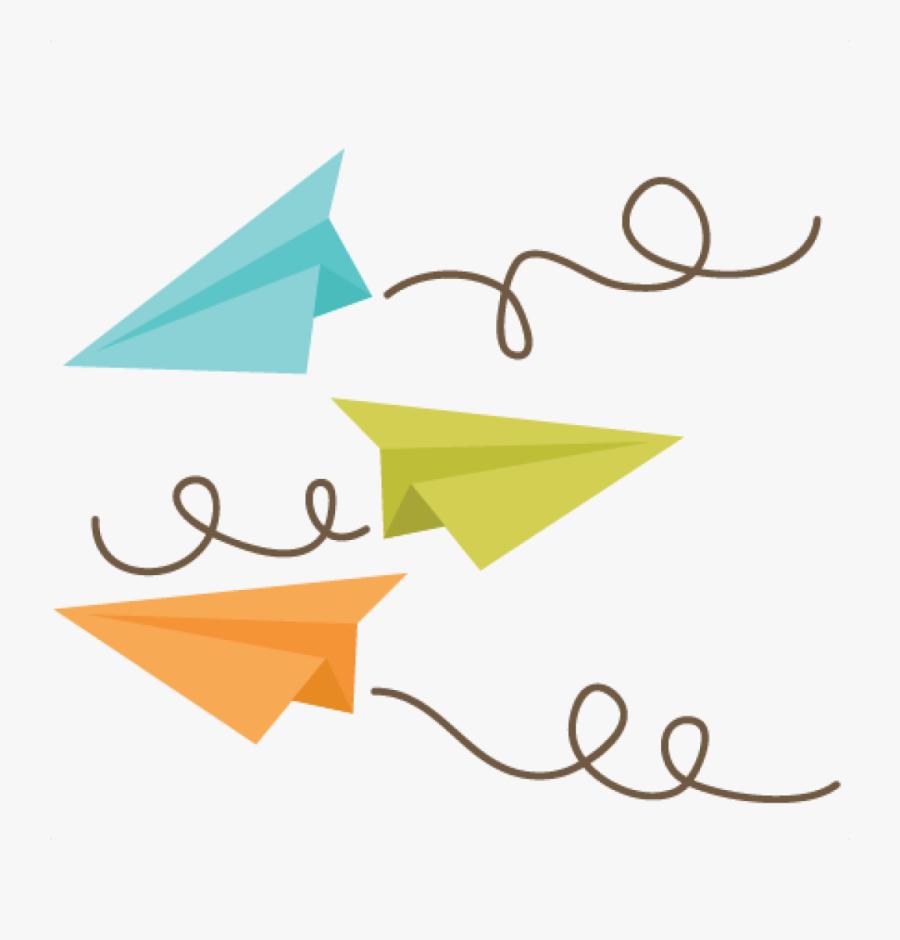 cartoon paper airplane clipart