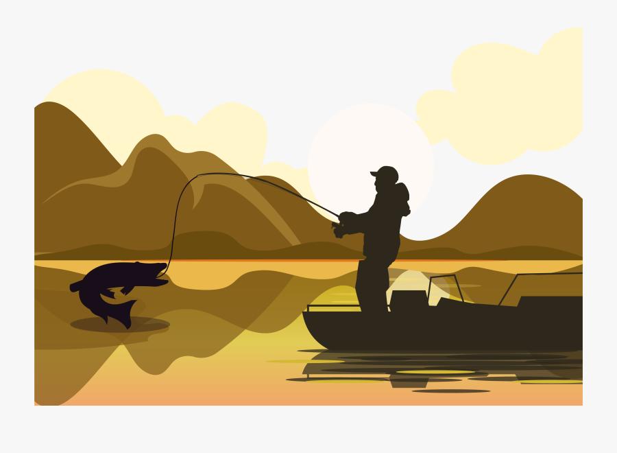 Fishing Net Illustration - Illustration Man Fishing, Transparent Clipart