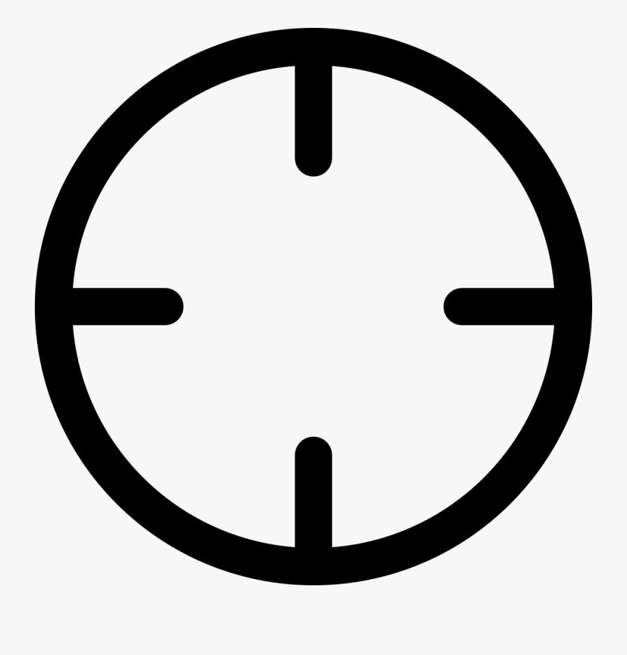 Circular Interface Symbol Svg - Cross Hairs Clip Art, Transparent Clipart