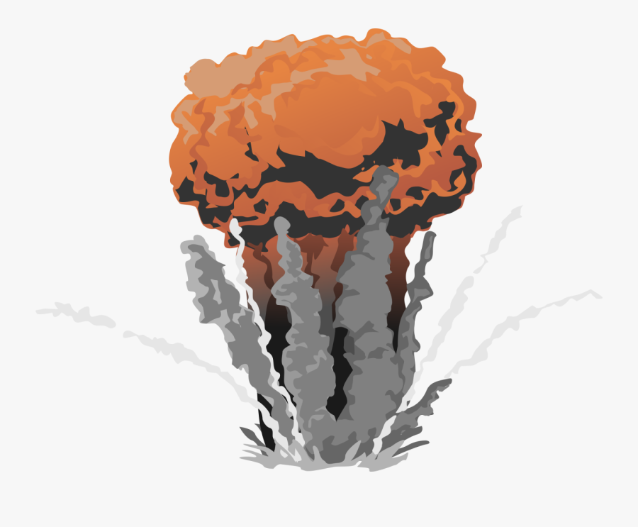 Fire Explosion With Smoke Png Image - Transparent Atomic Bomb Gif, Transparent Clipart