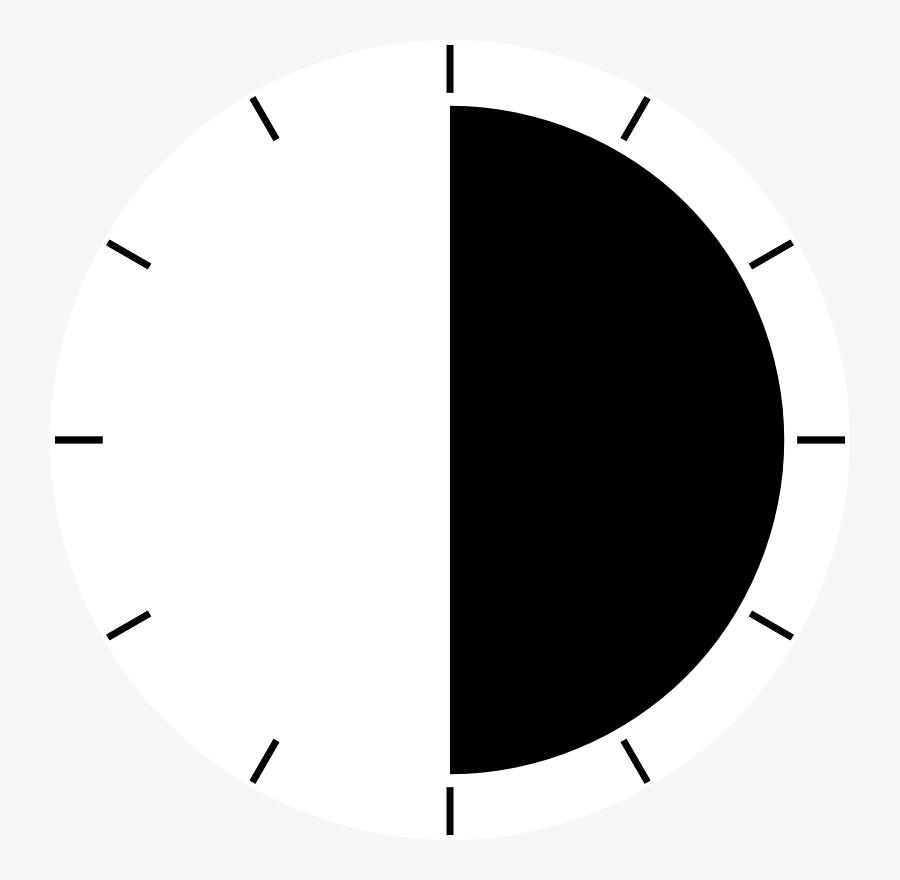 Clock Periods - Clock Half Time Clipart, Transparent Clipart