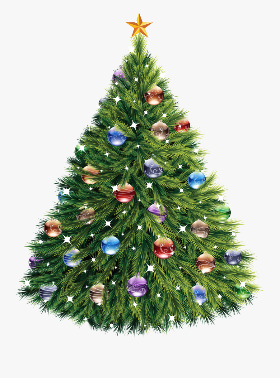 Christmas Tree With Baubles Png Image - Christmas Tree Royalty Free, Transparent Clipart