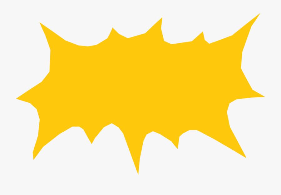 Plant,leaf,symmetry - Comic Speech Balloon Yellow, Transparent Clipart