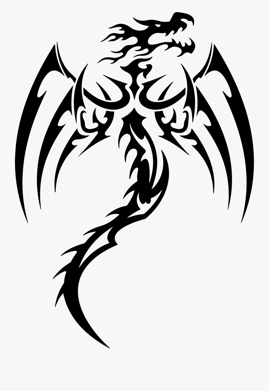 Dragon Sticker Clipart , Png Download - Tribal Dragon Tattoos, Transparent Clipart