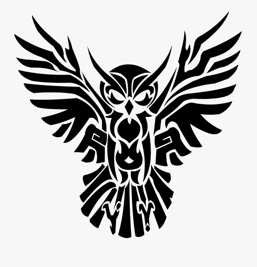 Owl Tattoo Artist Tribal Gear Drawing - Owl Tribal Tattoo, Transparent Clipart