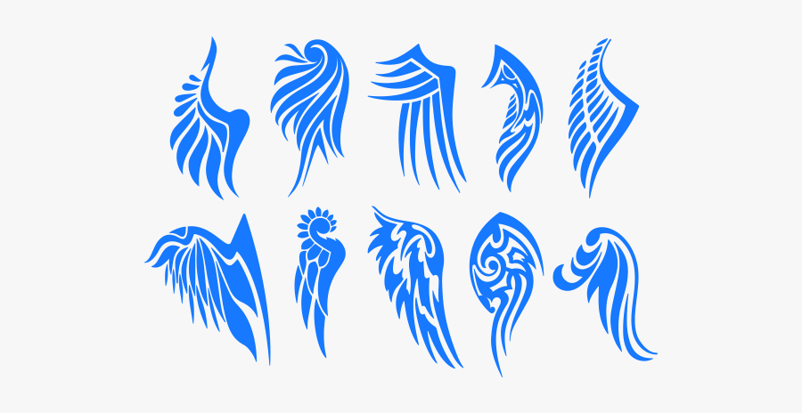 Tribal Wings Png - Tribal Tattoo Design Wings, Transparent Clipart