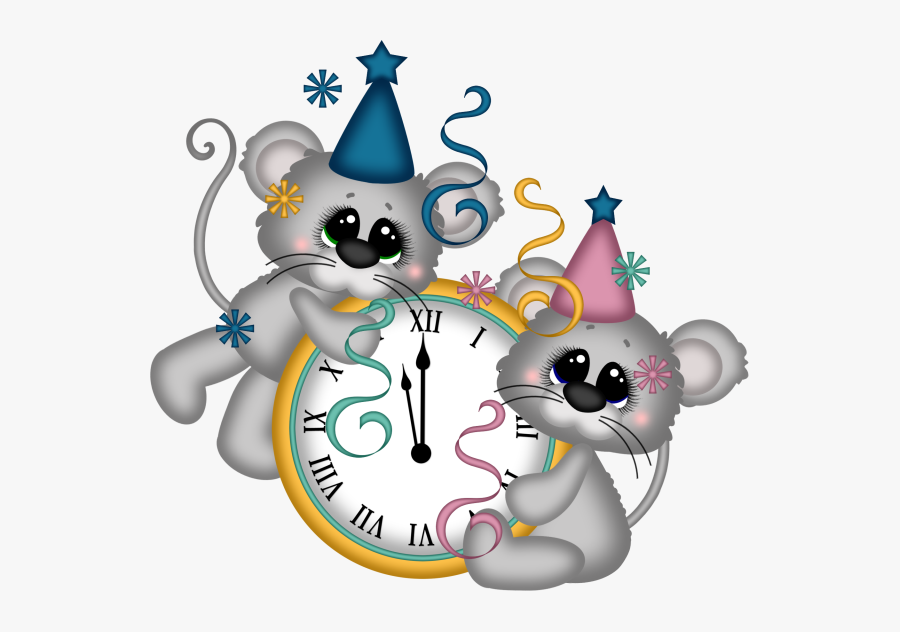 Clip Art Animated New Year's Day, Transparent Clipart
