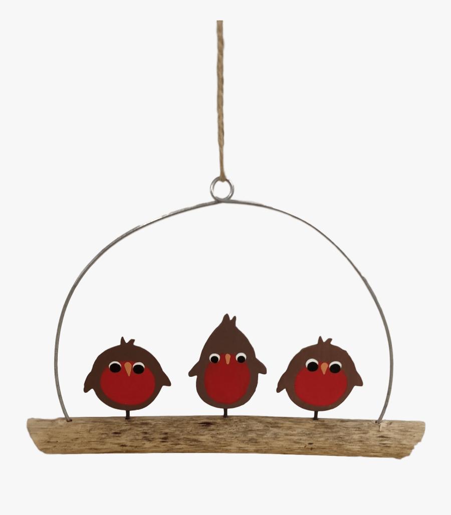 Christmas Robins Decoration, Transparent Clipart