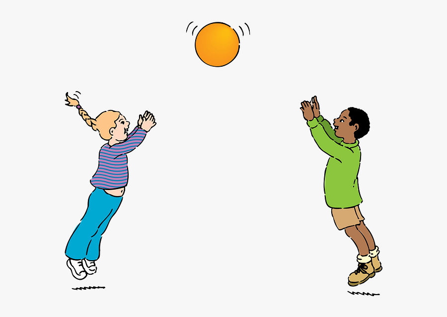 Throwing And Catching A Ball, Transparent Clipart