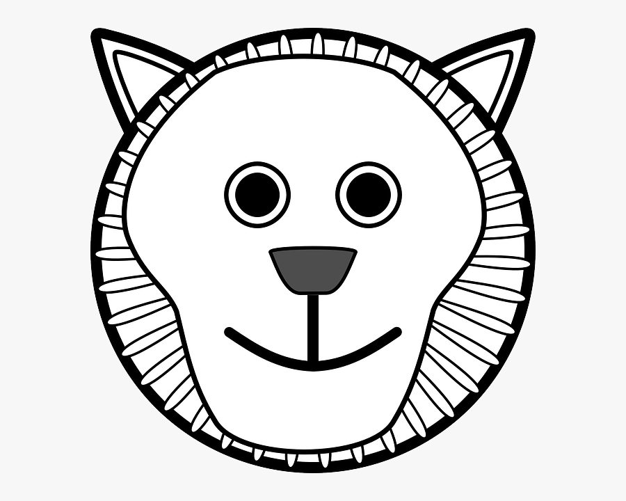 Cartoon Tiger Face Clipart Black And White, Transparent Clipart
