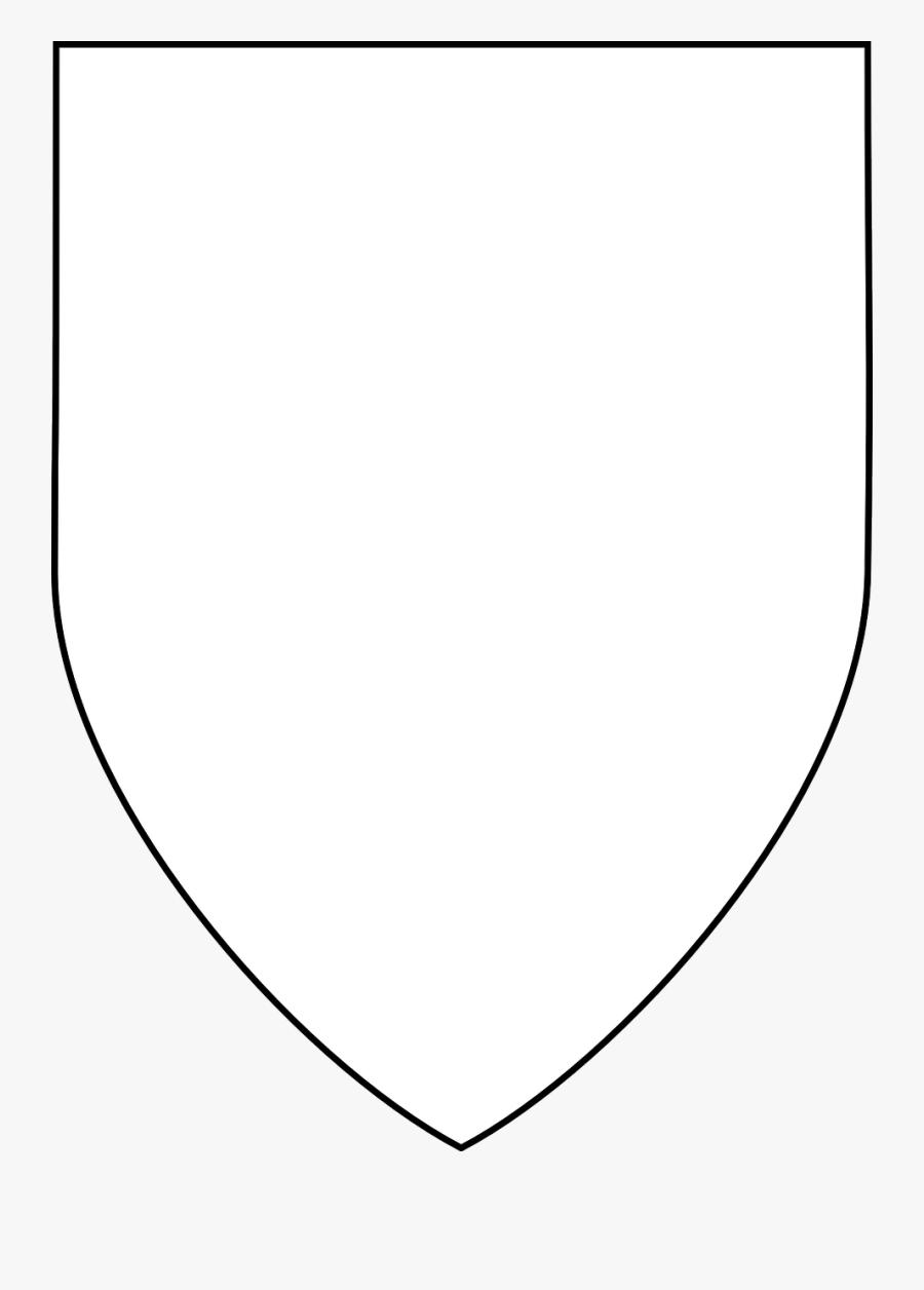 Plain White Shield Shape, Transparent Clipart
