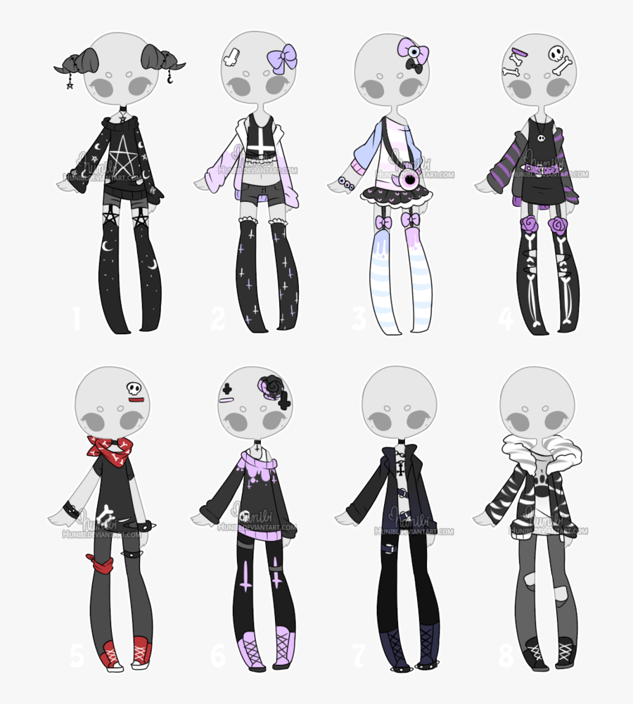 Cute Pastel Outfits For Drawing, Transparent Clipart