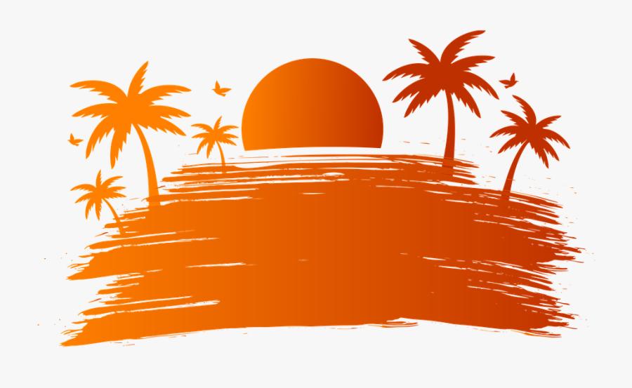 Summer Sunset Party - Logo Summer Outing Design, Transparent Clipart