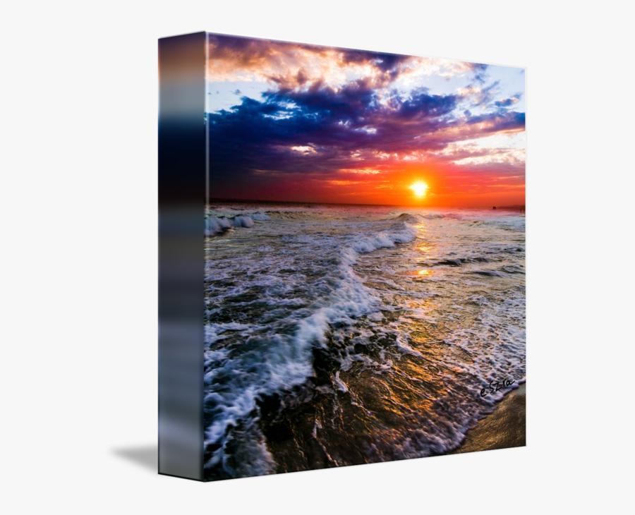 Sunset Clipart Beach Wave - Sunset Square, Transparent Clipart
