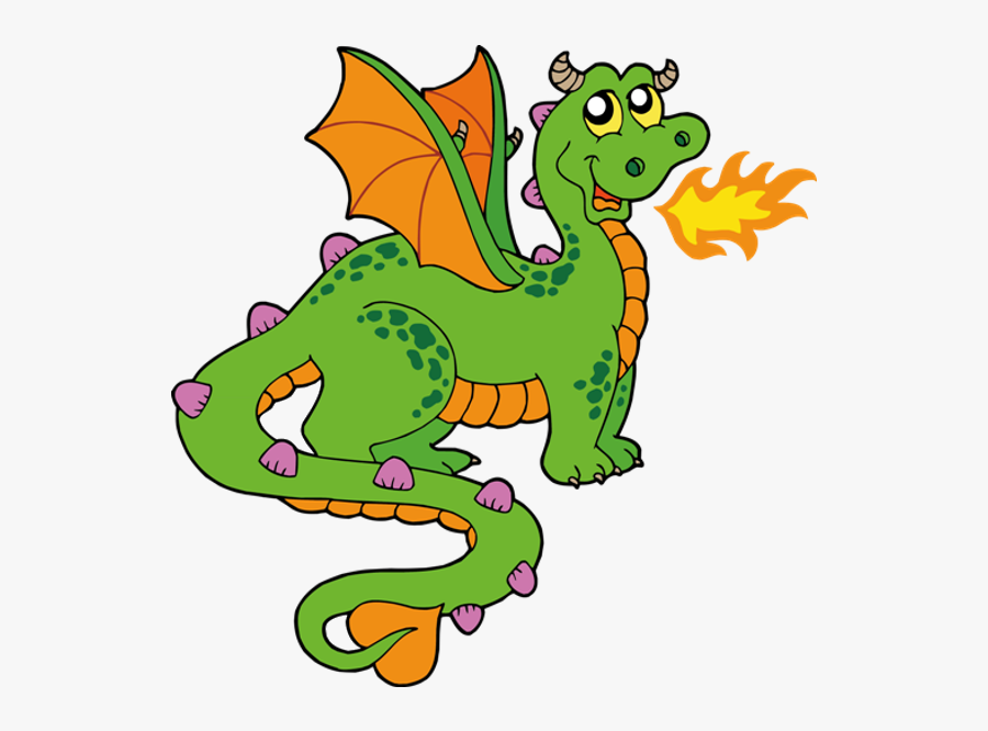 Fairytale Clipart Dragon - Fire Breathing Dragon Clipart, Transparent Clipart