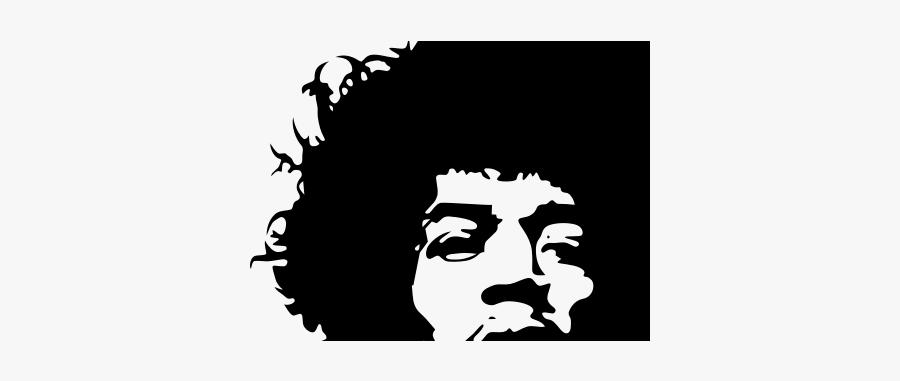 Vector Portrait Of Jimi Hendrix Jimi Hendrix Black And White Free Transparent Clipart Clipartkey