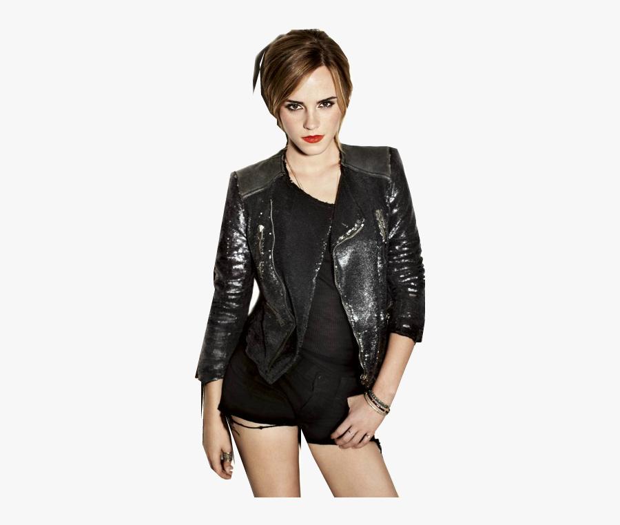 Emma Watson - Emma Watson Black Jacket, Transparent Clipart