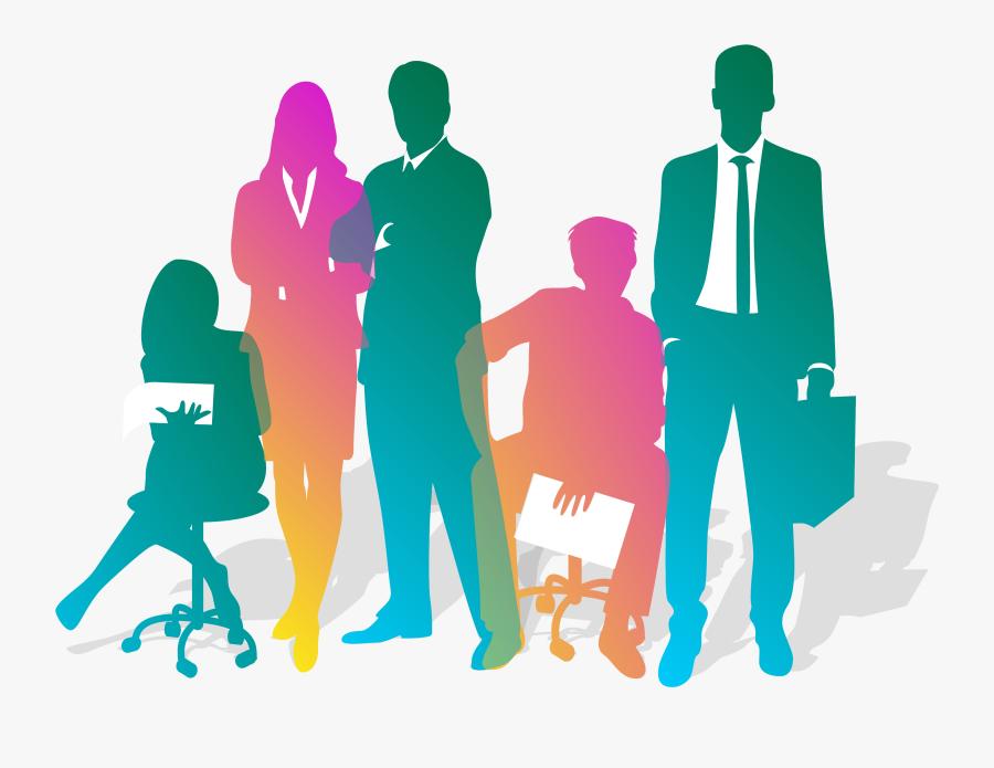 Business Teamwork Silhouette - Business Teamwork Png, Transparent Clipart
