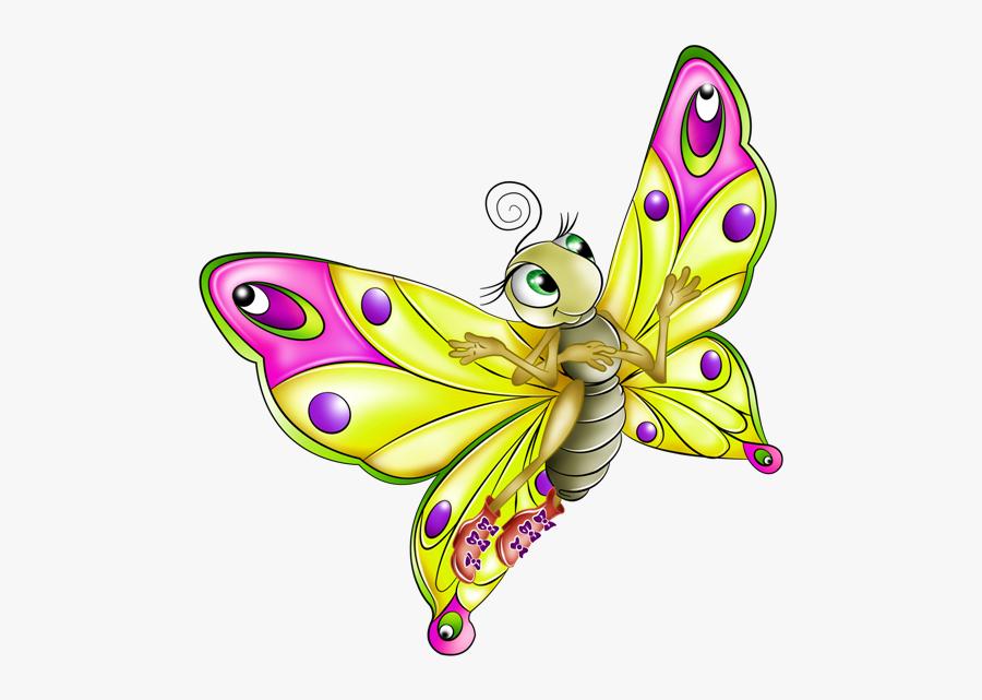 Butterflies Fluttering Caterpillars Pinterest - Butterfly Cartoon Transparent Background, Transparent Clipart
