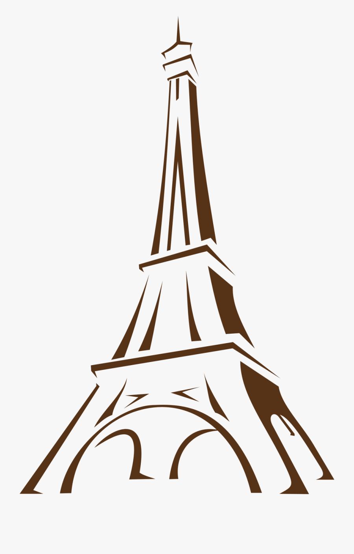 Fileeiffel Tower Icon - Easy Eiffel Tower Sketch, Transparent Clipart
