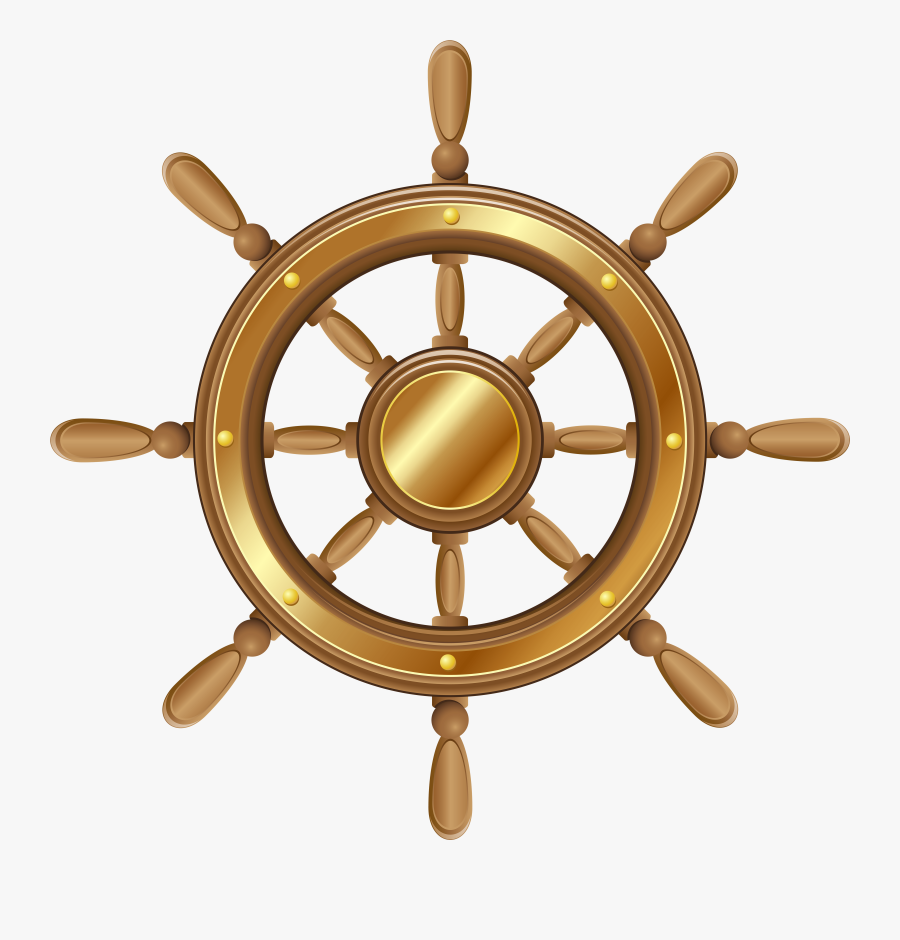 Boat Wheel Transparent Png Clip Art Image - Transparent Background Boat Wheel Clipart, Transparent Clipart
