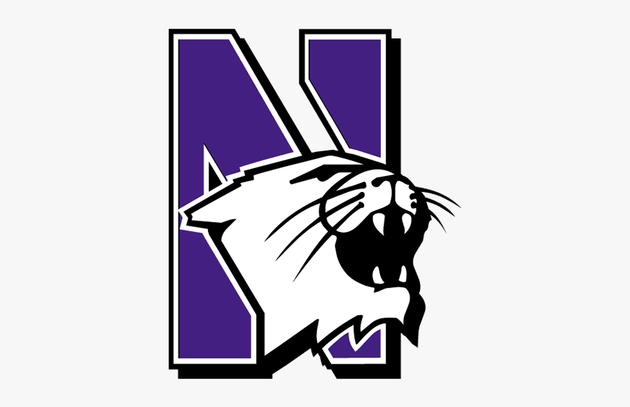 2017 Northwestern Wildcats Football Schedule - Wildcat Northwestern University Logo, Transparent Clipart