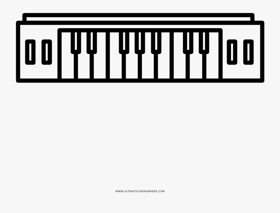 - Easy Keyboard Coloring Page Clip Art Computer I Abcteach - Musical Keyboard  , Free Transparent Clipart - ClipartKey