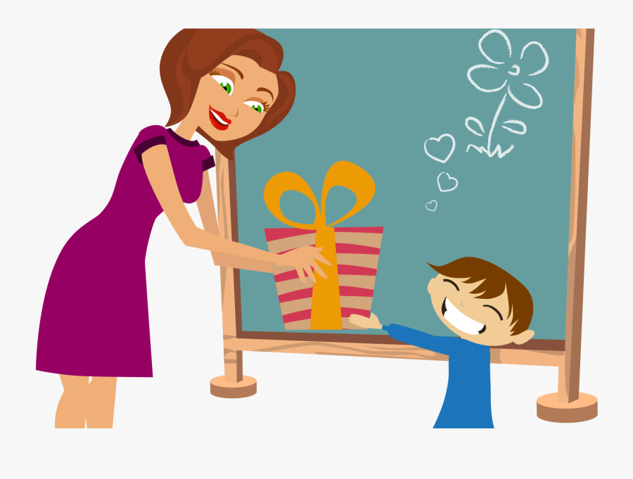 Teacher Gift Clipart, Transparent Clipart
