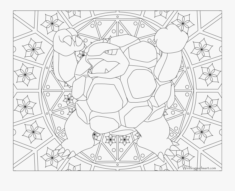 Golem Pokemon Coloring Page - Pokemon Coloring Pages Dragonite, Transparent Clipart