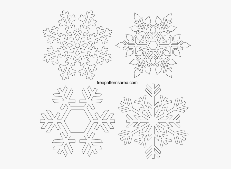 Black And White Printable Snowflake Clipart, Transparent Clipart