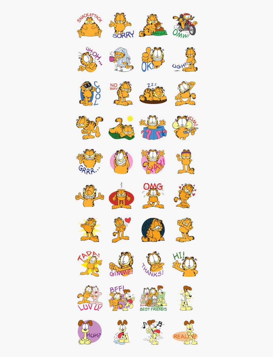 Lazy Clipart Lazy Day - Stickers De Garfield Para Whatsapp, Transparent Clipart