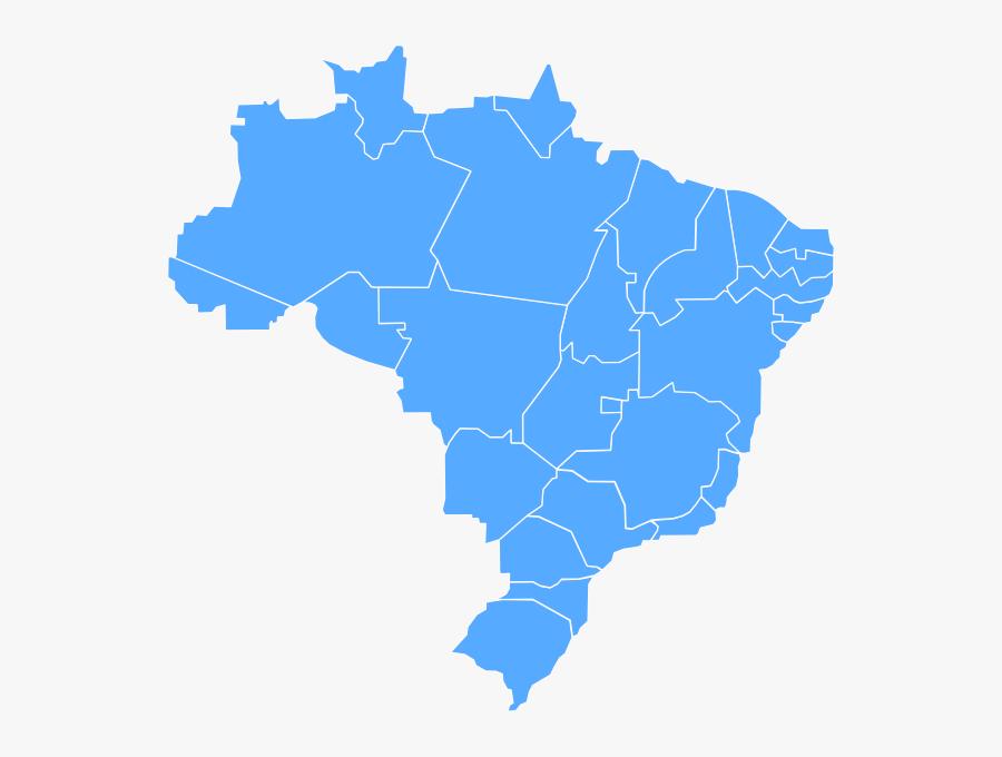 Mapa Do Brasil Svg, Transparent Clipart