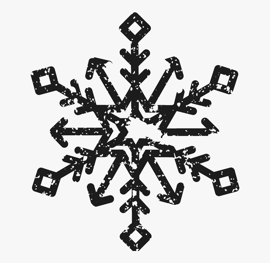Distressed Snowflake Stamp - Christmas Postage Stamp Png, Transparent Clipart