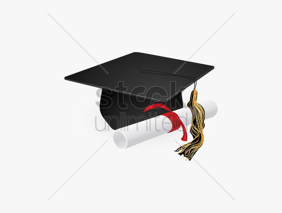 Transparent Scholarship Clipart - Graduation Cap And Scroll, Transparent Clipart