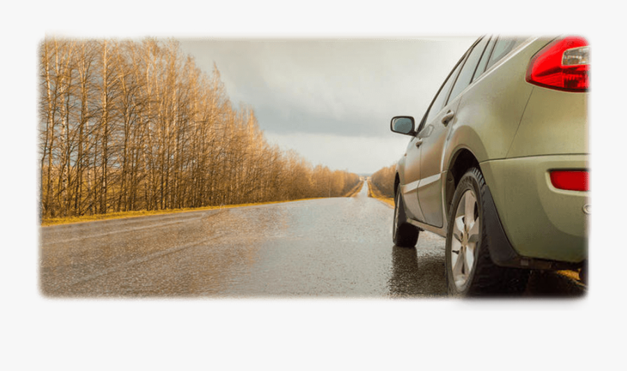 Car On The Road, Pulling Over, Driving On Rainy Days - Compact Mpv, Transparent Clipart