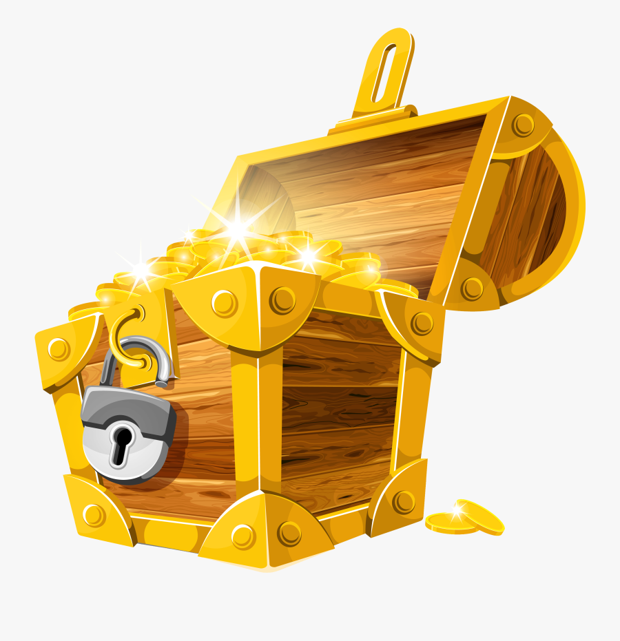 Treasure Chest Png - Gold Treasure Chest Png, Transparent Clipart