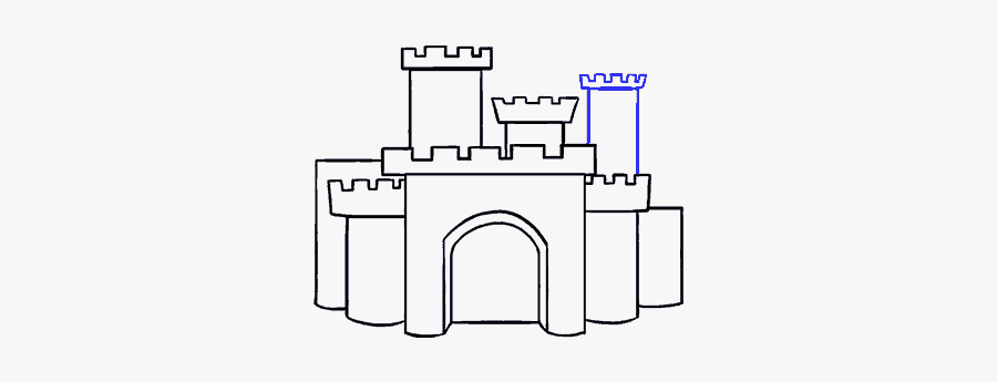 How To Draw Cartoon Castle - Easy Cartoon Castle Drawing, Transparent Clipart