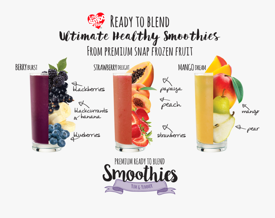 Transparent Fruit Cup Clipart - Premium Ready To Blend Smoothie, Transparent Clipart