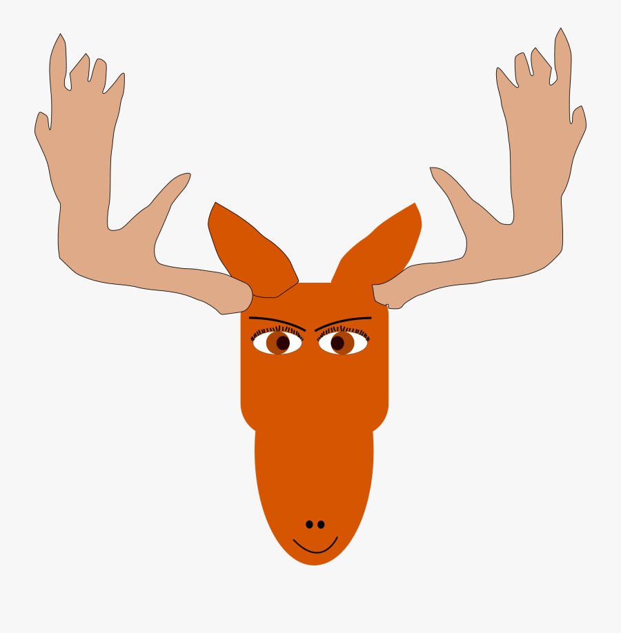 Christmas Moose Clipart - Mad Moose Cartoons Png, Transparent Clipart