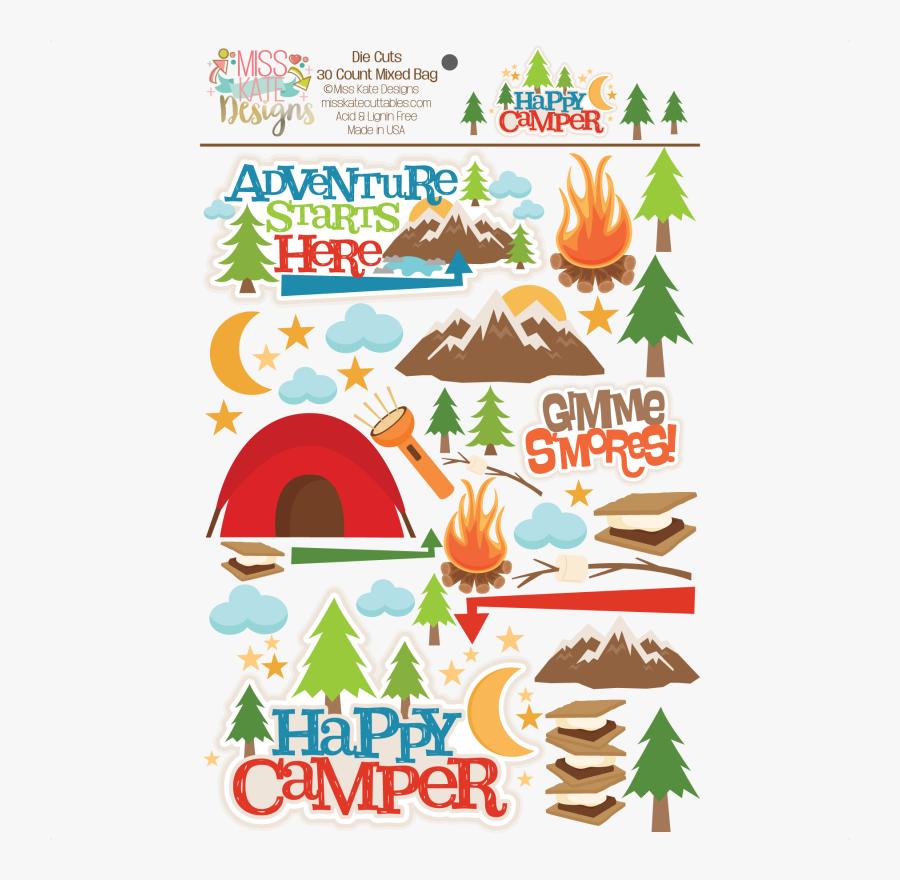 Camping Svg Happy Camper - Illustration, Transparent Clipart