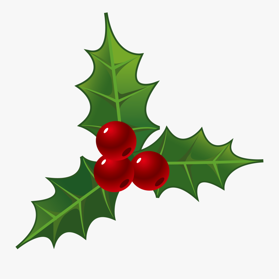 Decorations For Christmas - Christmas Holly Clipart, Transparent Clipart