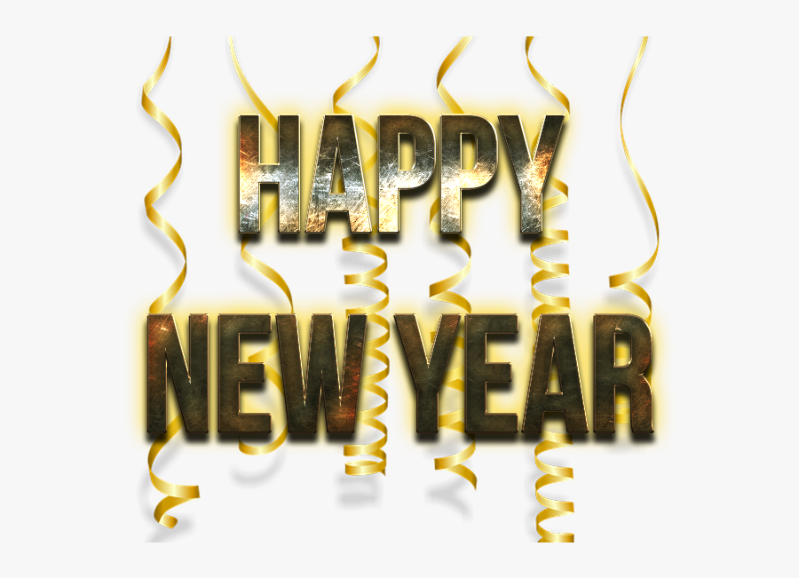 Happy New Year Word Png Image - Calligraphy, Transparent Clipart