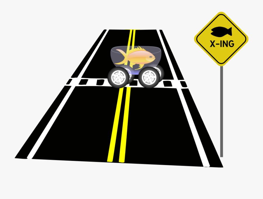Fish Crossing Svg Clip Arts - Parallel Lines Traffic Signs, Transparent Clipart