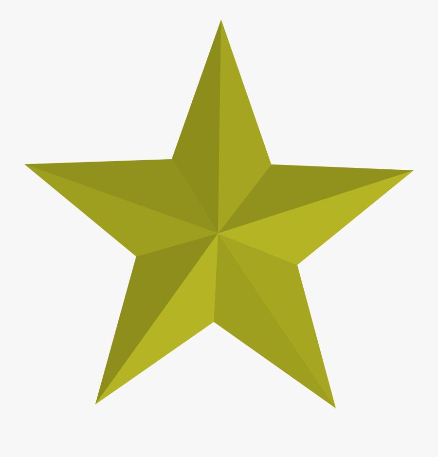 Five Pointed Star Transparent, Transparent Clipart