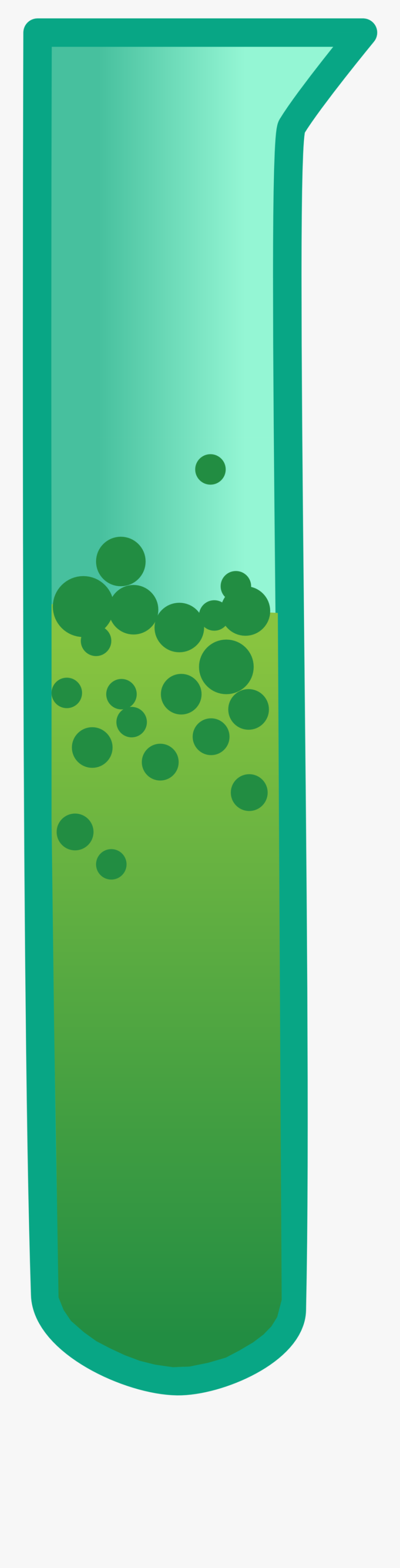 Bubbling Test Tube Animation, Transparent Clipart